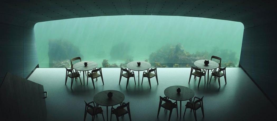 Le premier restaurant immergé d'Europe vous invite à manger 5 mètres sous l'eau
