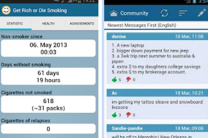 Application de rencontres pour les fumeurs
