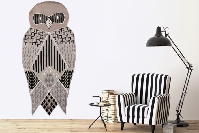 Hibou-tapisserie d'Aubusson