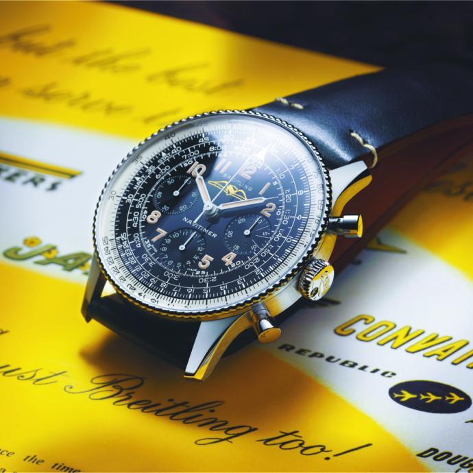 Réédition de la montre historique Navitimer de 1959
