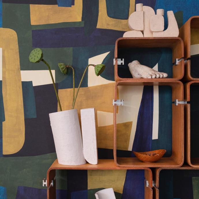 <em>Collection Neo Kubist avec c&eacute;ramiques. &copy; KAATJE VERSCHOREN</em>