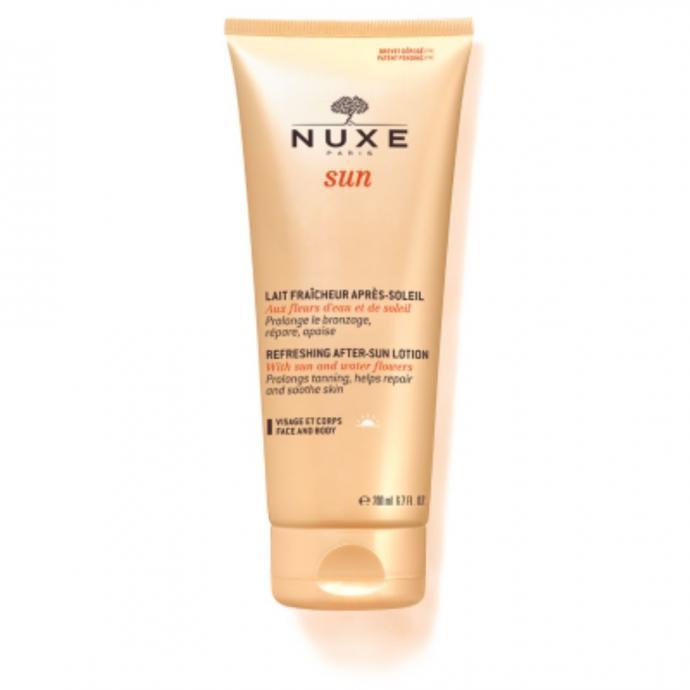 Lait fraicheur après-soleil visage et corps, Nuxe, 17,40 €.