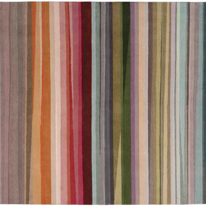 """Dans un intérieur organique, pour réveiller un sol en béton lissé ou une déco trop uniforme. Festival, en laine. Création Paul Smith pour The Rug Company. 1 263€/m2. <a href=""""http://www.therugcompany.com"""">www.therugcompany.com</a>"""