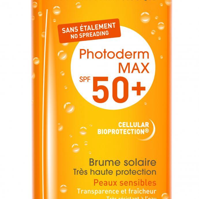 "Texture légère, indice"" plaisir"" au zénith ! Spray Fondant Haute Protection SPF 50 Nuxe Sun, 27,90 €."