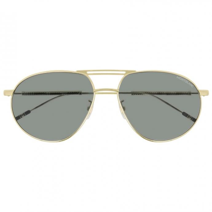 """Lunettes en m&eacute;tal, Montblanc, 403 &euro;, <a href=""""https://www.montblanc.com/en-be/collection/eyewear/126927-square-gold-colored-metal-frame-sunglasses.html"""" target=""""_blank"""">disponible ici.</a>&nbsp;"""