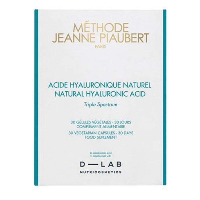 Cure d'hydratation d'un mois, Méthode Jeanne Piaubert, 37,90 € pour 30 gélules, disponible chez Planet Parfum.