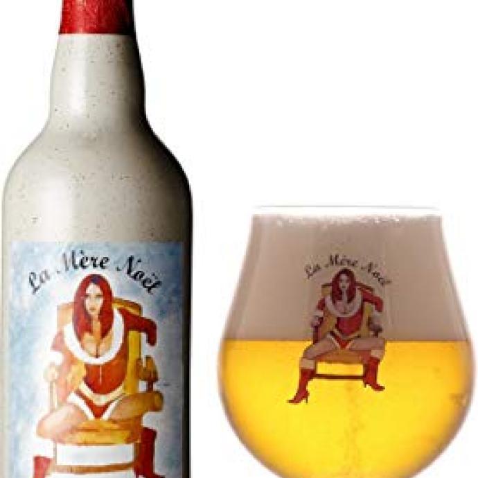 La Mere Noel a la robe blonde, aux aromes fruite et epice (8.5% alc.vol).