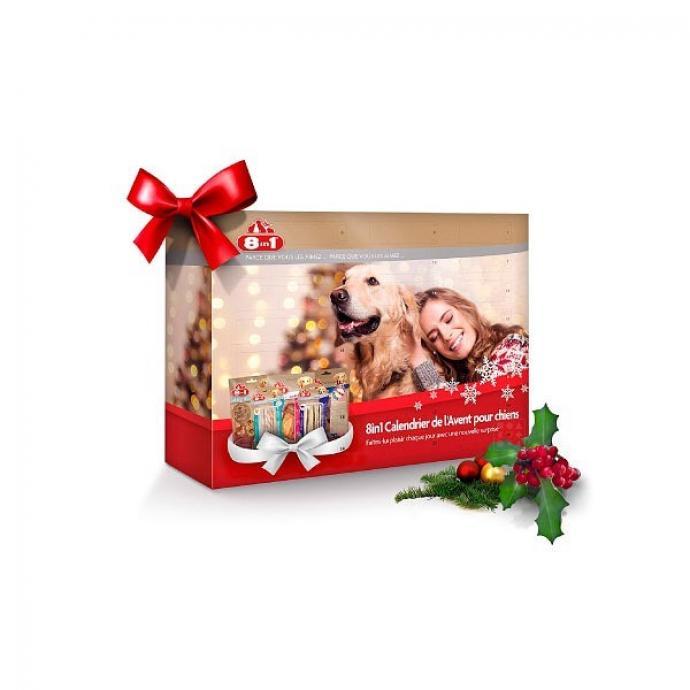 Qui a dit que les calendriers de l'Avent étaient seulement destinés aux humains ? Votre chien va aussi goûter aux plaisirs des fêtes avec ce calendrier taillé sur mesure pour lui. Chaque jour il aura l'occasion de manger une friandise parmi huit sortes proposées.