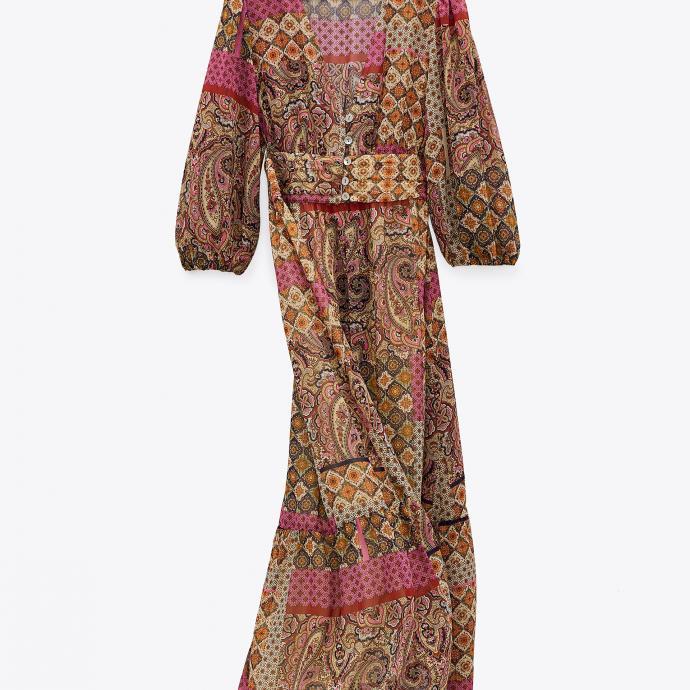 Robe à imprimé cachemire - Zara - 49,95€