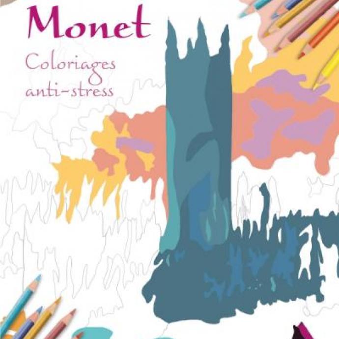 Pour le plus grand sensible à l'art, relaxez-vous en coloriant es œuvres du maître de l'impressionnisme, Monet.