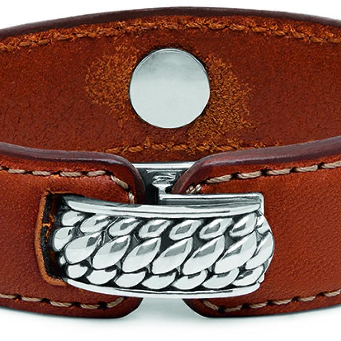 <strong>Un bijou robuste</strong> : Bracelet cuir et argent, Buddha tu Buddha, 350&euro;