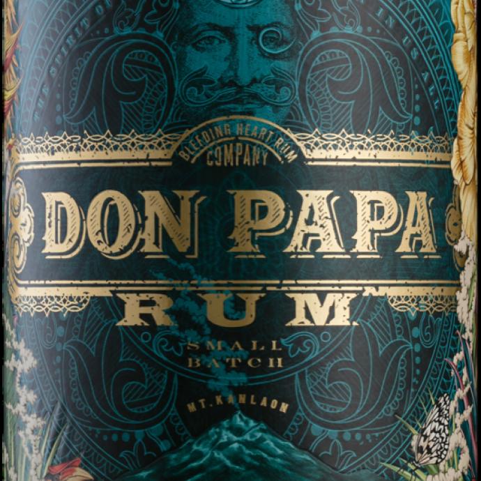 <strong>Aux Philippines </strong>avec une bouteille Don Papa Rum, 70 cl, 42 &euro;.&nbsp;