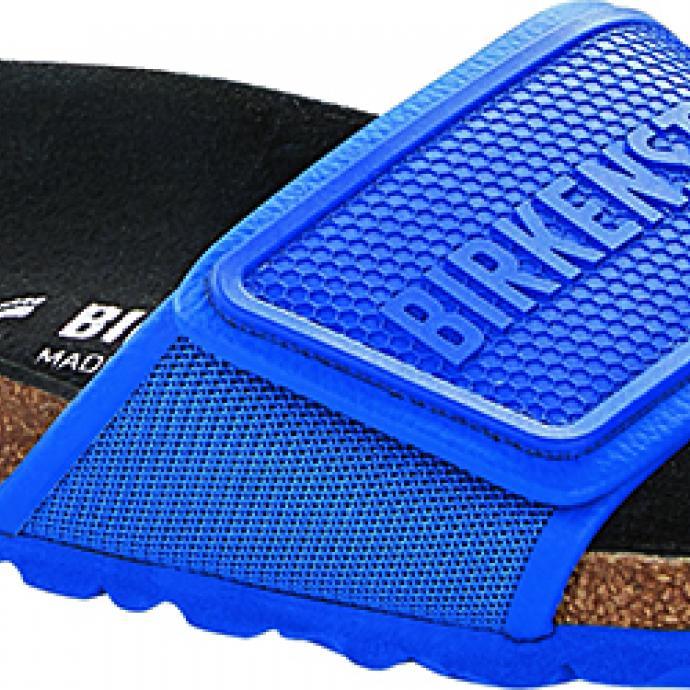 <strong>Une claquette color&eacute;e</strong> : Sandale Tema, Birkenstock, 89,90&euro;