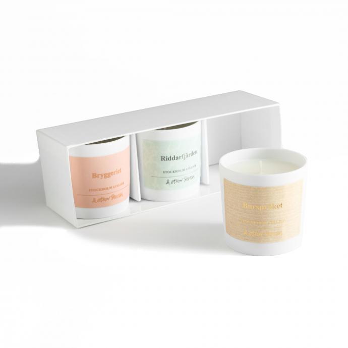 Kit de 3 bougies parfumees, &Other Stories, 39 €.