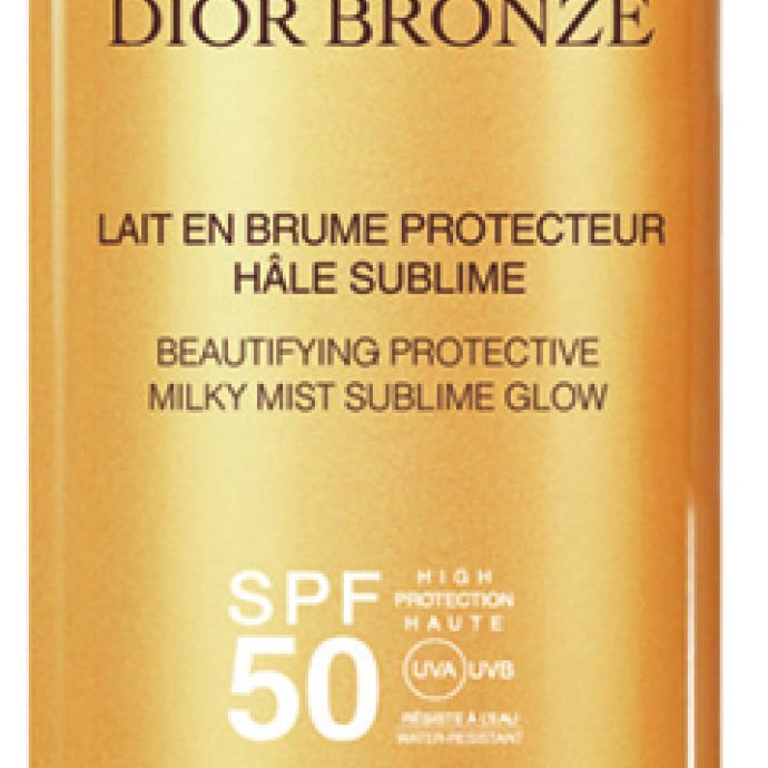 Lait en brume protecteur hâle sublime, SPF50, Dior Bronze, 39€.