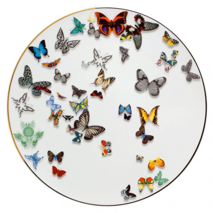 Assiette de présentation Butterfly Parade, Christian Lacroix, 149€.