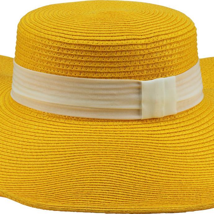 Capeline en paille jaune, C&A, 14.90€