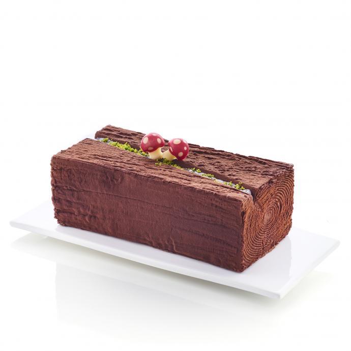 """Une mousse au chocolat noir, une autre à la noisette et un double biscuit dacquoise. 14,95 € (8 p.). <a href=""""http://www.picard.fr"""">www.picard.fr</a>"""