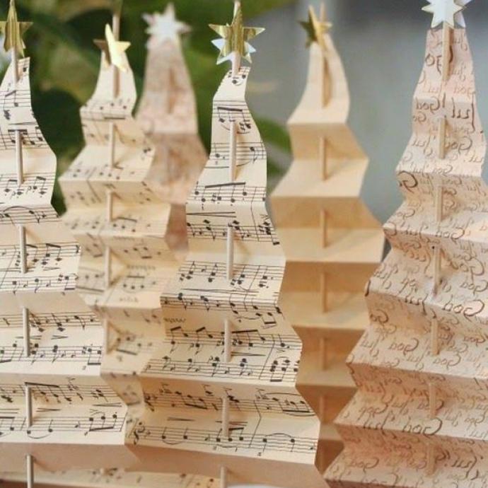 Pour les amoureux de musique, où bien ceux qui ont des partitions à n'en plus quoi faire, voilà une idée toute simple mais très efficace, qui donnera à coup sûr le bon ton sur votre table de réveillon!