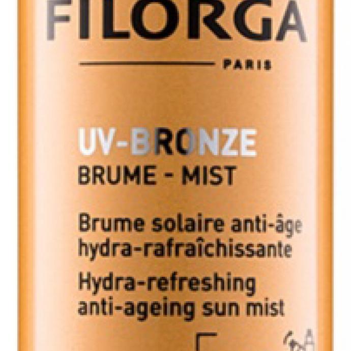 UV-Bronze, brume solaire anti-âge, SPF50, Filorga, 36€.