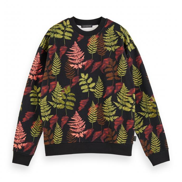 Sweater à motif végétal, Scotch & Soda, 109,95€.