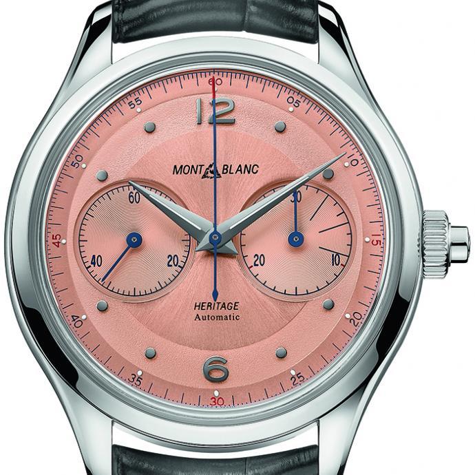 <strong>Une montre intemporelle</strong> : Montre Heritage Monopusher Chronograph, Montblanc, 4 800&euro;