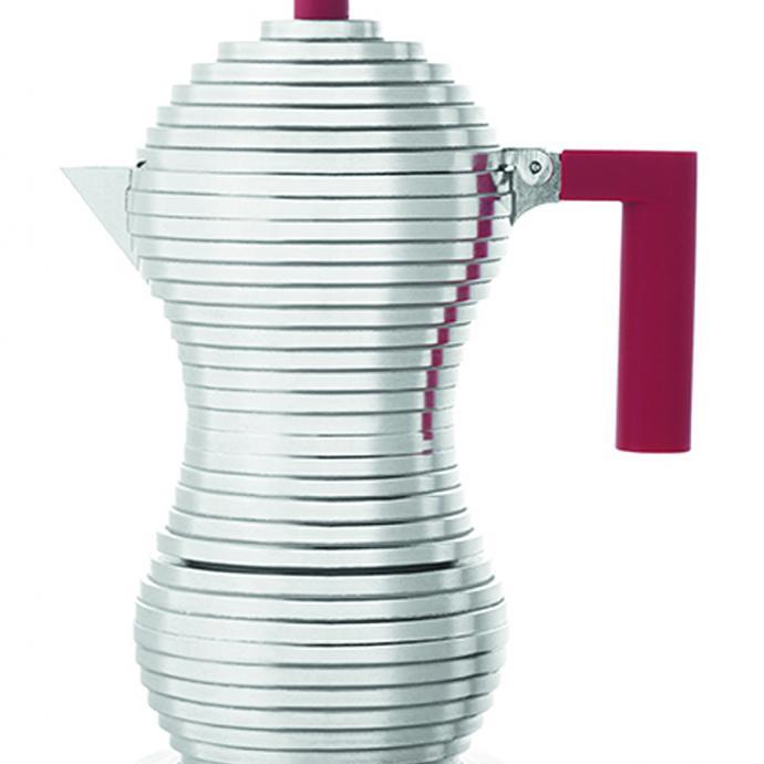 La cafetière ultrastylée : Moka Pulcina Induction, 3 tasses, 78€.