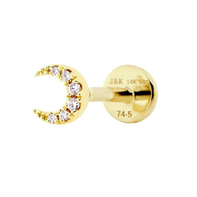 Piercing Moon en or jaune et diamants, Juuls&Karats, 169€
