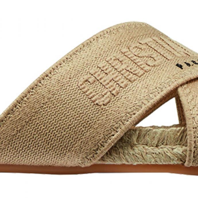 L'espadrille revisitée : Sandale en corde, Christian Dior, prix sur demande.