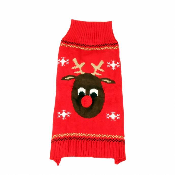 Ce pull de Noël tiendra bien chaud votre chien pendant les journées froides de l'hiver et il sera fin prêt pour fêter Noël.