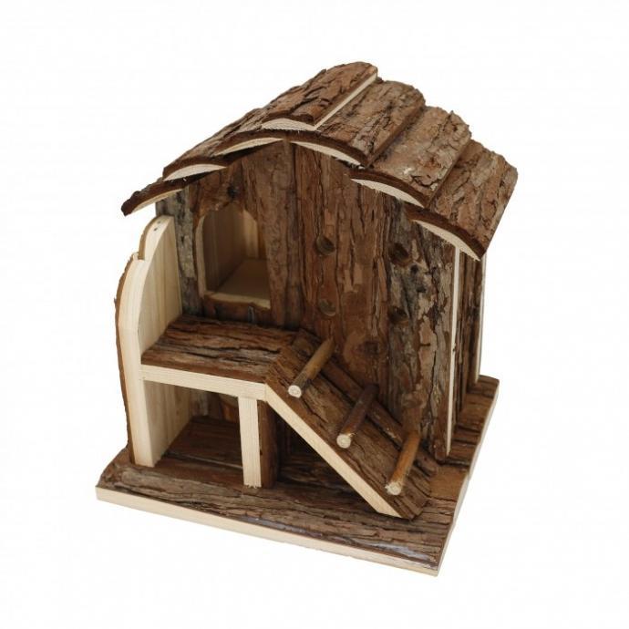 Offrez un espace chaleureux de jeu et de repos pour votre rongeur avec cette mignonne maison cottage esprit maison de campagne. Votre petit animal prendra plaisir à se faufiler, grimper ou dormir selon ses envies.
