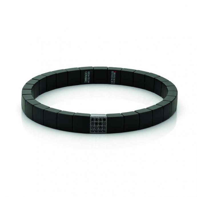 <strong>Un bijou masculin </strong>: Bracelet en c&eacute;ramique, or blanc et diamants noirs, Maison De Greef, 580&euro;