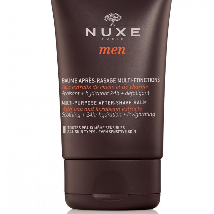 Nuxe Men a créé un Baume Après-Rasage Multi-Foncions qui apaise, hydrate tout au long de la journée et exerce une action défatigante. Il convient à tous les types de peaux, même les plus sensibles. 23,90 €