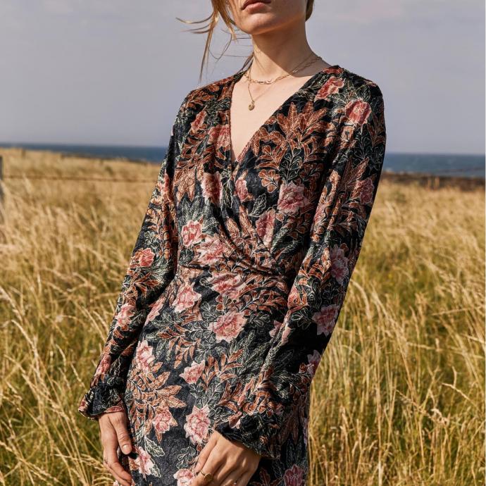 Robe imprimée en velours - Robe Penny Balzac Paris - 145€