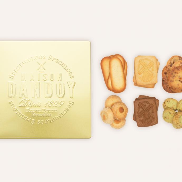 Golden Biscuit Box, Maison Dandoy, 30 €.