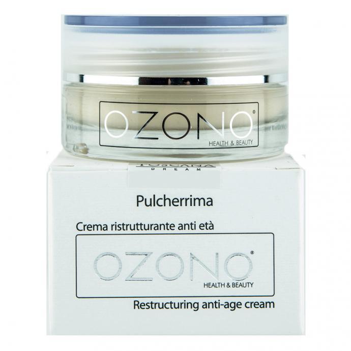 """Une nouvelle technologie est au cœur des formules de tous les produits signés Ozono. Elles contiennent une huile ozonée, excellent antioxydant qui prévient<br />le vieillissement cutané.La crème reconstituante anti-âge Pulcherrima rétablit la fermetéde la peau grâce àdes actifs régénérantset restructurants. Fraîche, parfumée, elle est vite absorbée par l'épiderme pour une sensation d'hydratation et de confort.52€. Infos points de vente: <a href=""""mailto:Info@03belgium.be"""">Info@03belgium.be</a>. T.0495 22 07 92."""