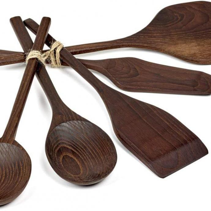 Couverts de service en bois Pure, Pascale Naesssens, 53€ chez Secrets du Chef.