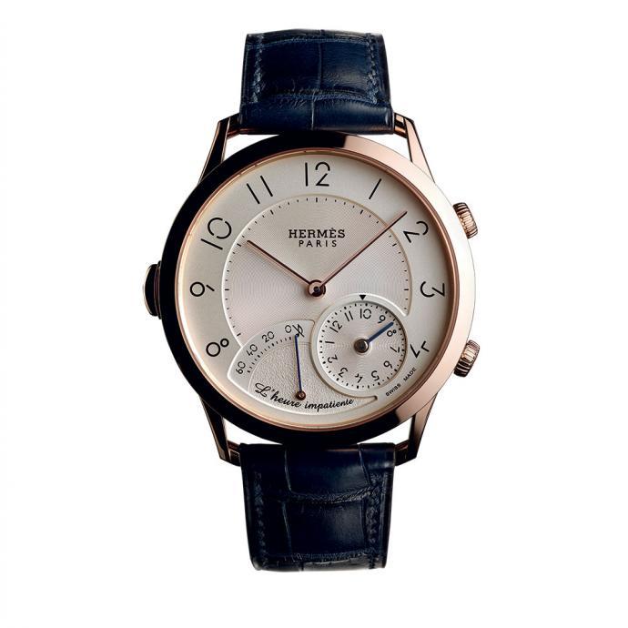 Montre Hermes Impatiente – compteur pré-activé 1 heure avant l'évènement - mouvement automatique – diamètre 40 mm – réserve de marche 42 h.