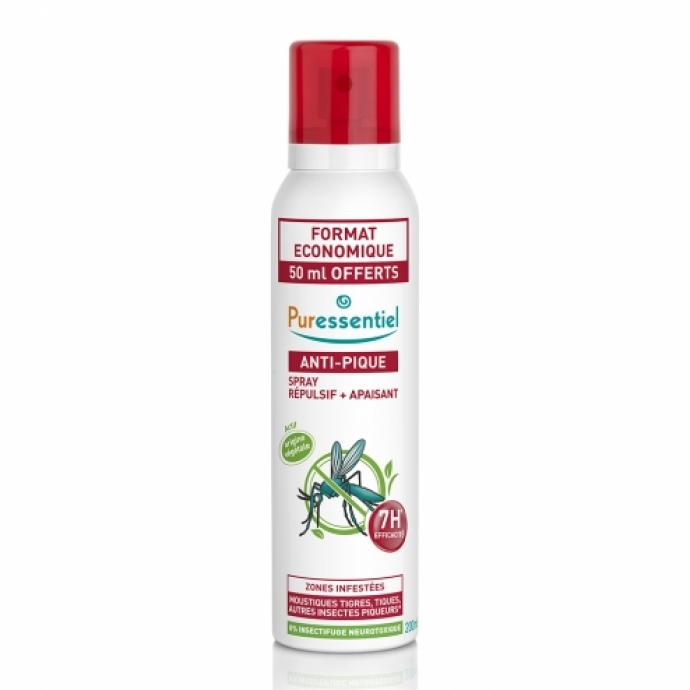 """<em>Puressentiel Anti-Pique Spray 75 ml, 16,95&euro;, disponible <a href=""""https://www.farmaline.be/pharmacie/commander/puressentiel-anti-pique-spray-75ml/?utm_campaign=priceC&amp;utm_source=adstrong_be&amp;utm_medium=pricesearch&amp;utm_term=BE03007044"""" target=""""_blank"""">ici</a>.</em>"""