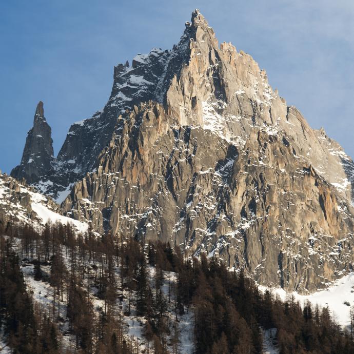 Chamonix: parce que c'est juste trop bien ! dixit le grimpeur.©Reporters.