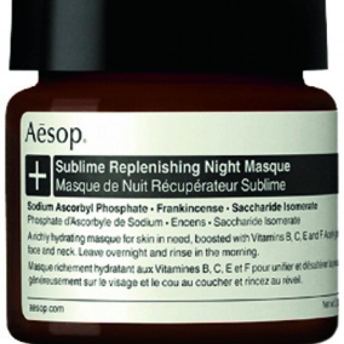 Un masque qui travaille quand on dort : Sublime Replenishing Night Masque, Aesop, 105€ chez Senteurs d'Ailleurs.