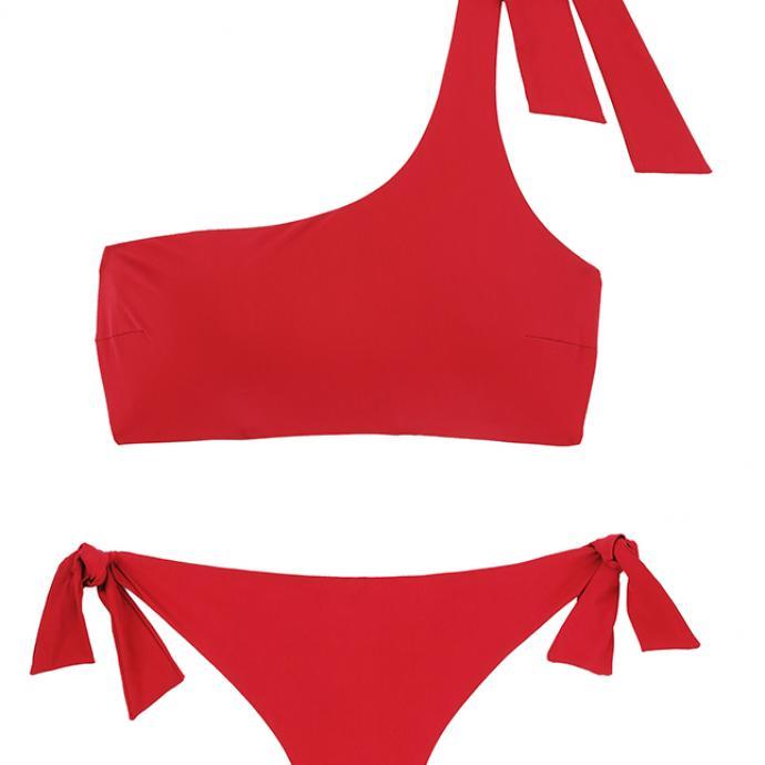 Bikini Brazil rouge vif, Etam, 36€