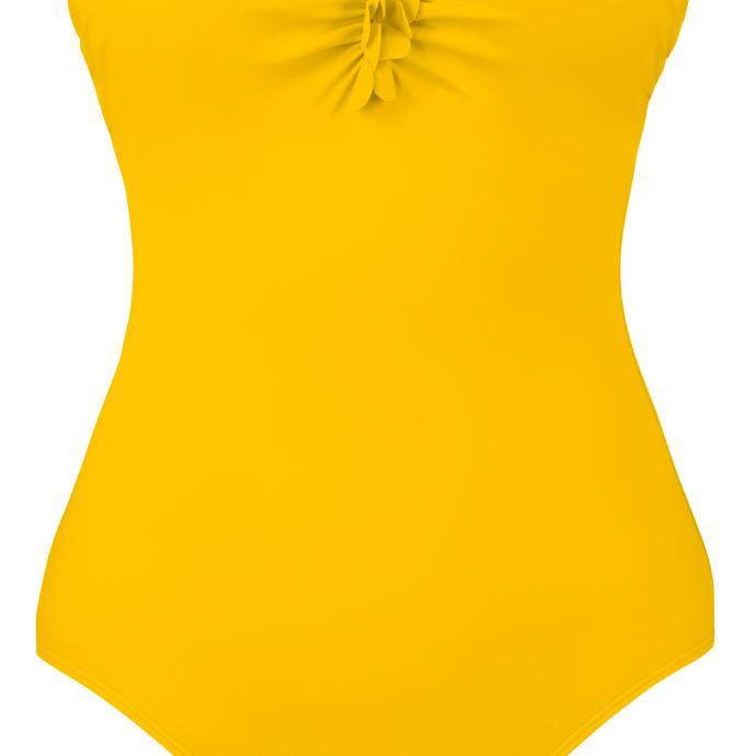 Maillot bustier jaune soleil, Empreinte, 159€