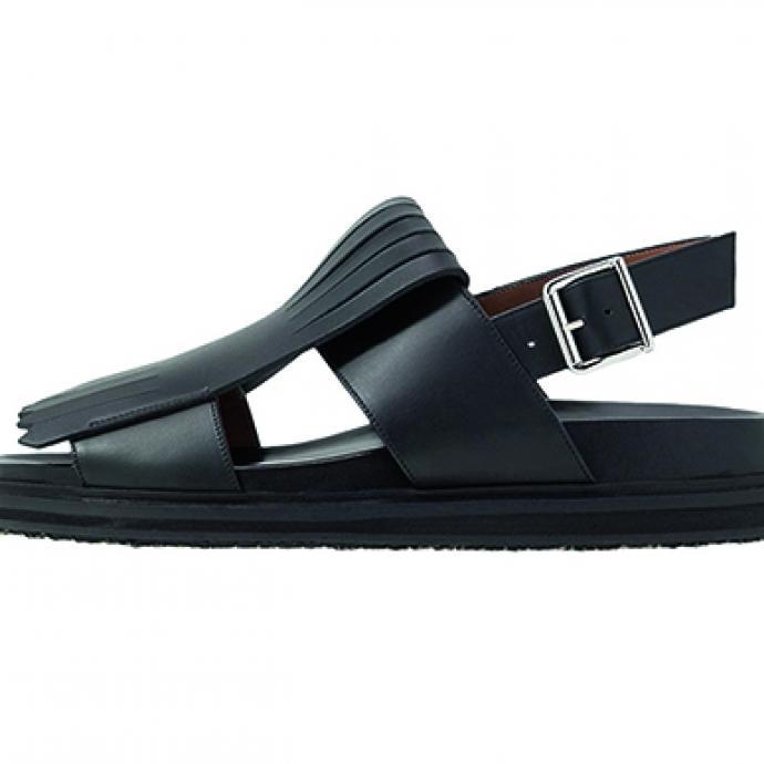 Sandale en cuir à franges, Zalando, 419, 95€.