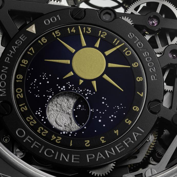L'indicateur des phases de Lune, détail ultime. © PANERAI