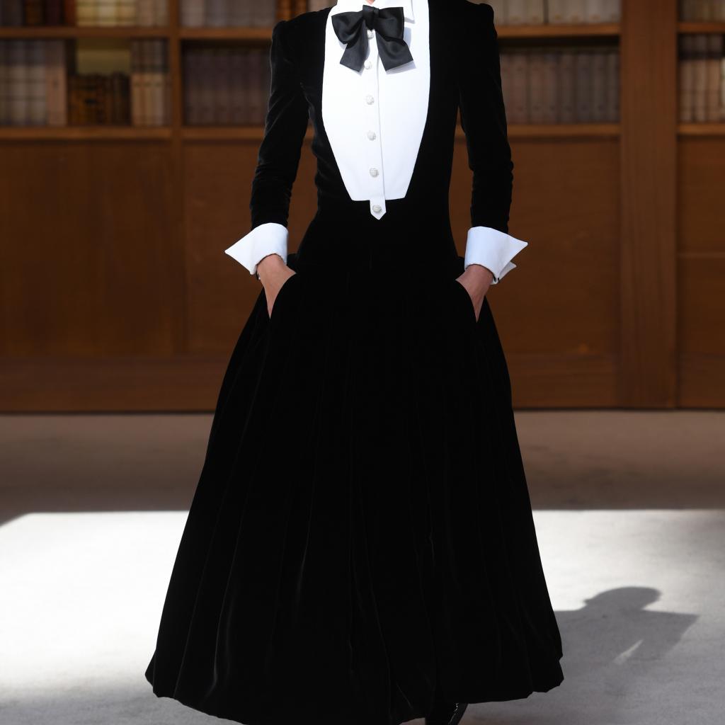 La robe rétro chic de Chanel. Haute couture automne-hiver 2019-2020, Paris, le 2 juillet 2019.©CHRISTOPHE ARCHAMBAULT / AFP