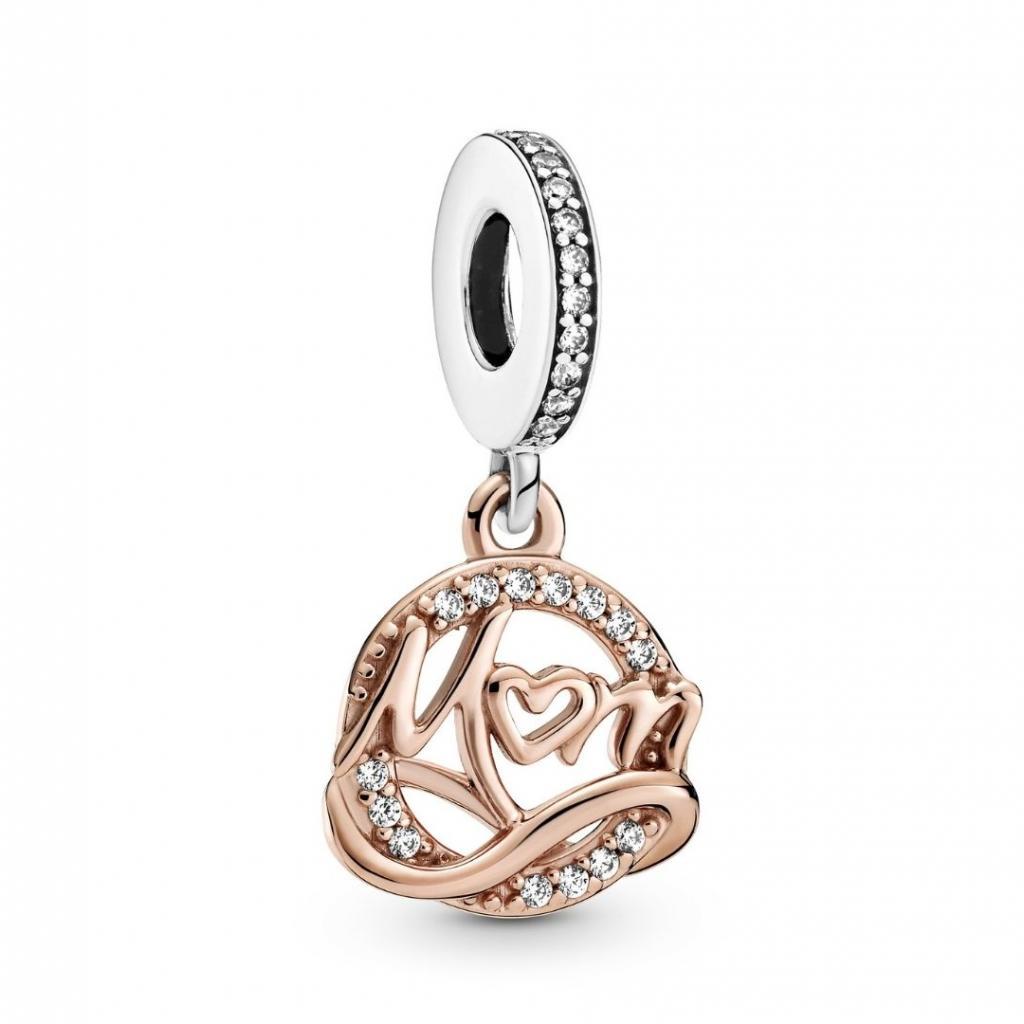 """Un charms Mum Pandora, 49 euros, à shopper <a href=""""https://fr.pandora.net/fr/cadeaux/pour-qui-/cadeaux-pour-ma-mere/ """" target=""""_blank"""">ici.</a>"""
