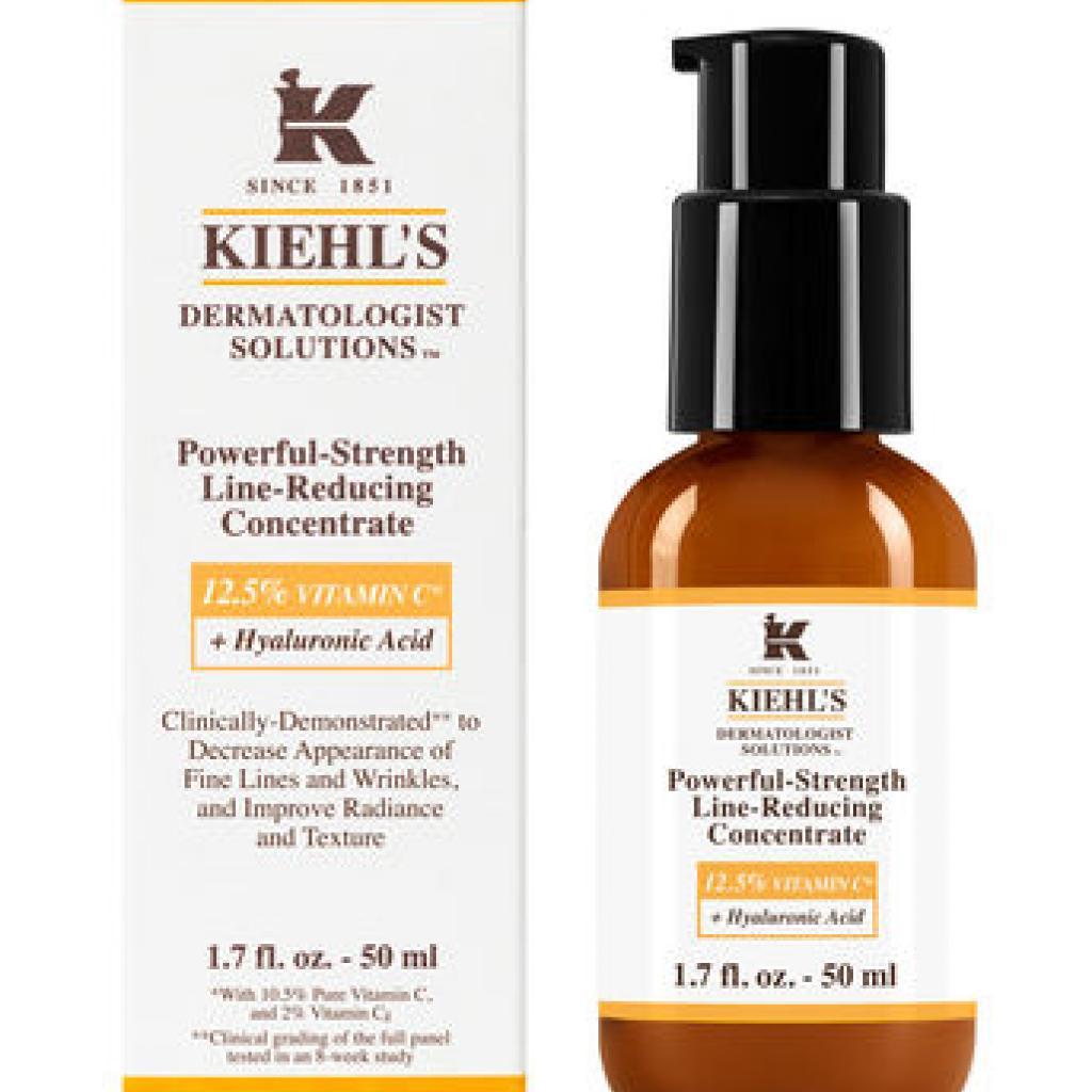 """Kiehl's Since 1851 présente une nouvelle formule, plus concentrée en vitamine C, de son sérum réducteur de ride Powerful-Strength Line-Reducing Concentrate. 58 €/50 ml et 77€/75 ml (disponible sur <a href=""""http://www.kiehls.be"""">www.kiehls.be</a> et sur <a href=""""http://www.inno.be"""">www.inno.be</a>)."""