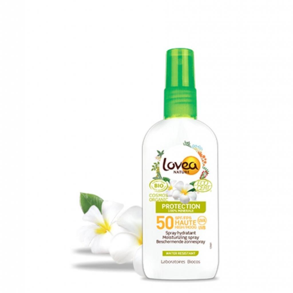 Spray hydratant haute protection bio, Lovea, 12,49 €.