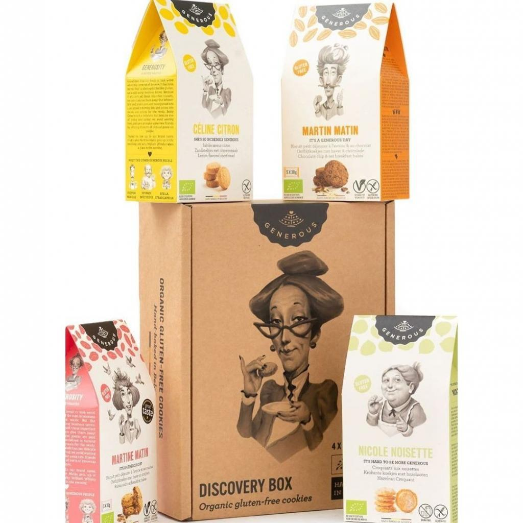 Biscuits bio et sans gluten, Generous, disponible ici.